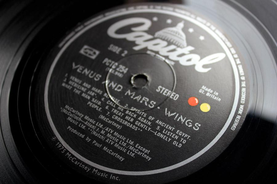 Paul McCartney And Wings Venus and Mars 1st UK Press