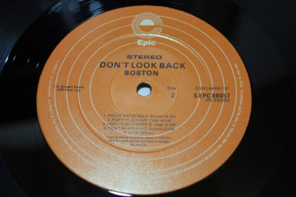 Boston Don't Look Back UK Pressing CBS Labels