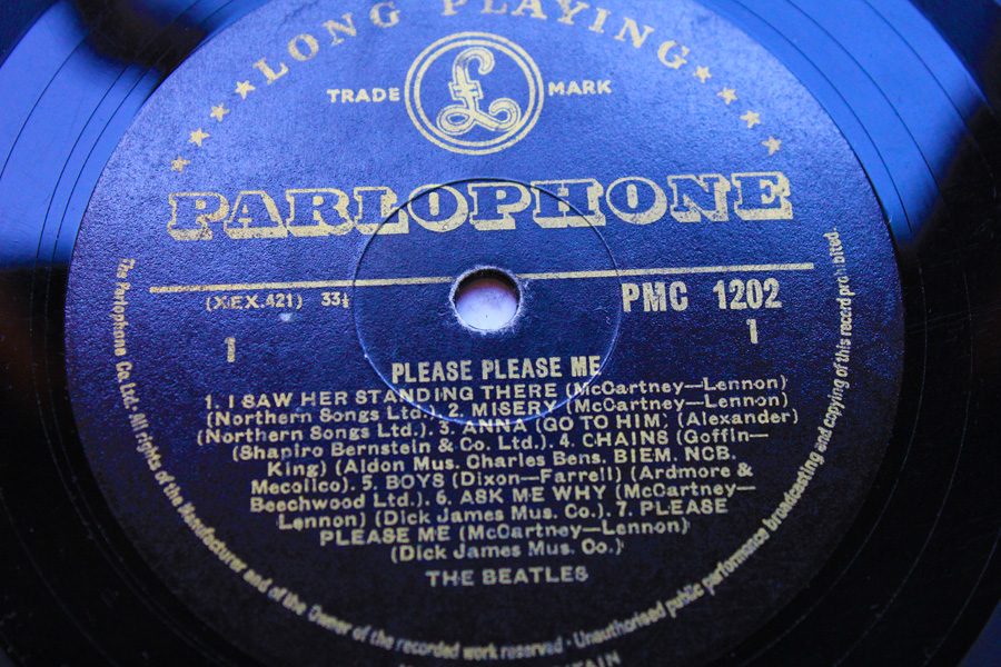 The Beatles Debut Black Gold Parlophone Please Please Me UK Press