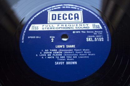Savoy Brown Lions Share 1st UK Press Mint Audio
