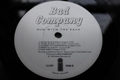 Bad Company Running With The pack 1ST UK