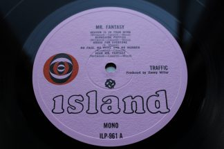 Traffic Mr. Fantasy 1st UK Pressing Island Pink Eye Labels