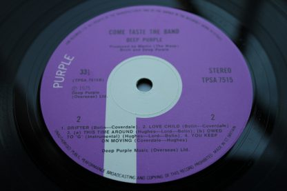 Deep Purple Come Taste The Band 1st UK