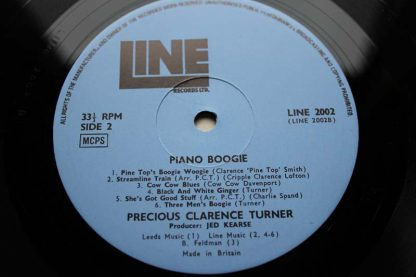 Clarence Turner Piano Boogie Cat No. Line Stereo 2002 Piano Blues The Vinyl: This is the original thick heavier chunky slab of vinyl only found like this on the earliest pressings.