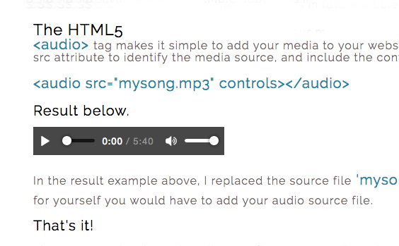 How To Add Background Audio To A Webpage HTML5
