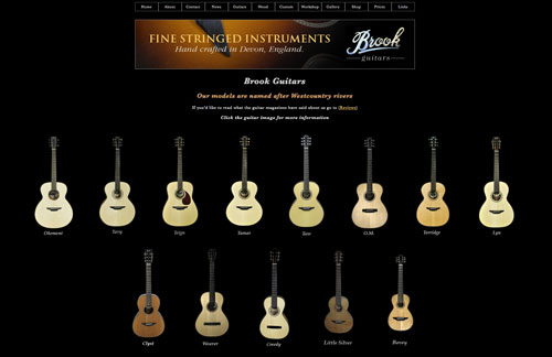 Brook Guitars New Redesigned Website Now Live!