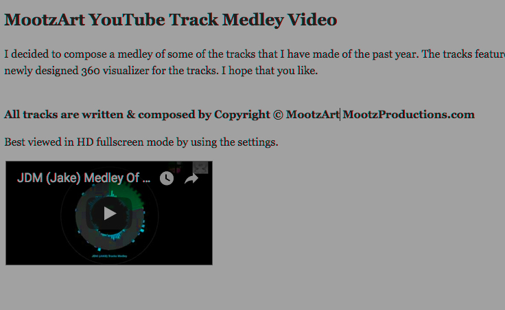 Mootzart YouTube Track Medley Video