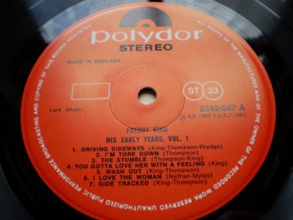 Freddy King The Early Years Vol 1 Original UK