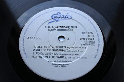 Ozzy Osbourne The Ultimate Sin
