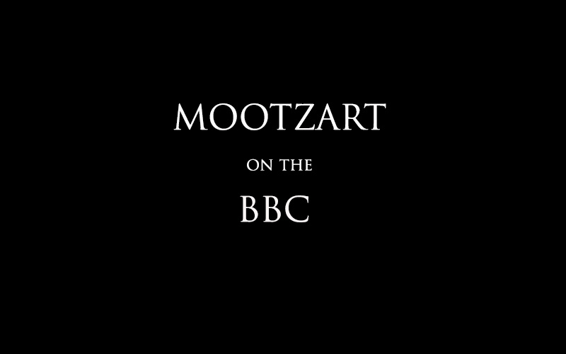 Mootzart on the BBC