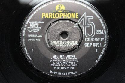 Beatles All My Loving EP 1st UK Press GEP 8891 Parlophone Mint