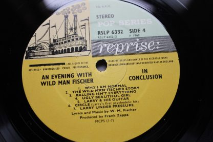 An Evening With Wild Man Fischer 1st UK Press Reprise Mint Vinyls