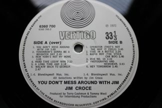 Jim Croce You Don't Mess Around With Jim Vertigo Swirl 1st UK Press