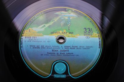 Black Sabbath Never Say Die 1st UK Pressing N.Mint Audio Archive