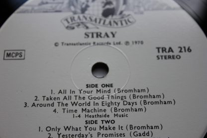 Stray Debut UK Press Die Cut Cover TRA 216 Mint AuDiO ArChIvE