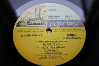FAMILY A Song For Me 1st UK Press MiNt ArChIvE Large Steamboat