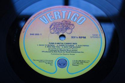 Electric Boys Funk - o - Metal Carpet Ride 1st UK Mint Heavy Metal
